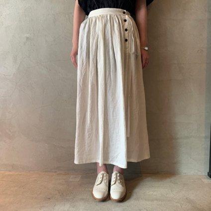 ikkuna/suzuki takayuki winding skirt (イクナ/スズキタカユキ ワインディングスカート)White