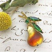 Austria Pear Brooch (オーストリア 洋梨 ブローチ)