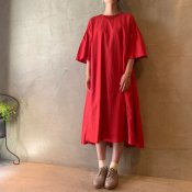 suzuki takayuki flared-sleeve dress(スズキタカユキ フレアードスリーブ ドレス)Red