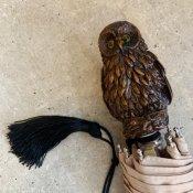 Guy de Jean (ギドゥジャン) 折りたたみ傘 フクロウ Beige