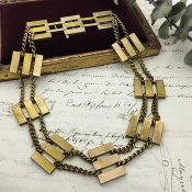 1930's Brass Antique Necklace (1930年代 真鍮 アンティークネックレス)