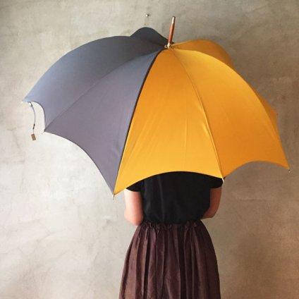 DiCesare Designs(ディチェザレデザイン) 雨傘 MEZZO Grey & Saffron