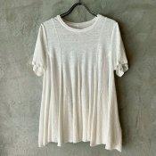 ikkuna/suzuki takayuki flared t-shirts (イクナ/スズキタカユキ フレアードTシャツ) White