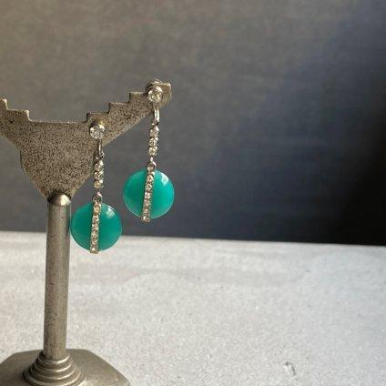 1920's Paste Glass Earring(1920年代 ペーストガラス イヤリング)