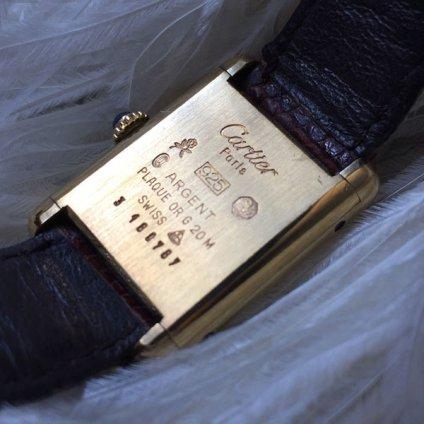 CARTIER MUST TANK (カルティエ マストタンク) 純正尾錠・ベルト・箱付き