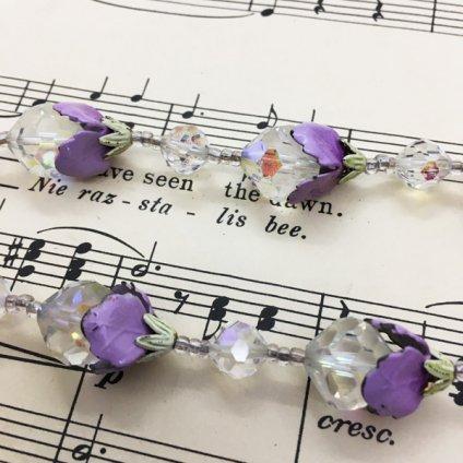 Vendome Purple Flower Necklace(ヴァンドーム パープルフラワーネックレス)