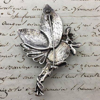 1910's Art Nouveau Silver Brooch(1920's アールヌーボー シルバー ブローチ)