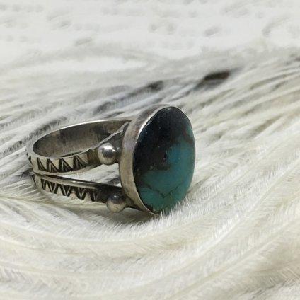 Dead Stock Silver×Turqoise Ring (デッドストック シルバー×ターコイズリング)