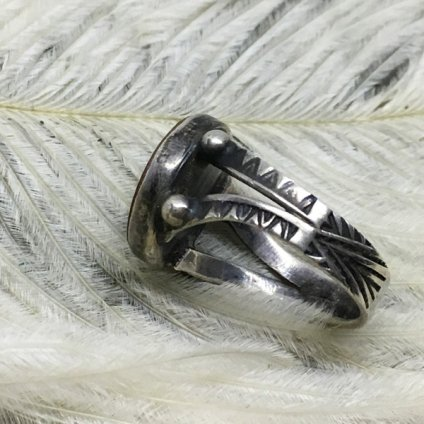 Dead Stock Silver×Green Turquoise Ring(デッドストック シルバー×グリーンターコイズリング)
