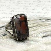 Vintage Silver×Petrified Wood Ring(シルバー×ペトリファイドウッドリング)
