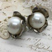 1960's Resin Pearl Earring(1960年代 樹脂パール イヤリング)