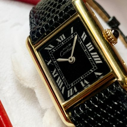 CARTIER MUST TANK (カルティエ マストタンク) 純正尾錠付き