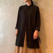 suzuki takayuki dickey-front shirt(スズキタカユキ ディッキーフロントシャツ)Black/Unisex