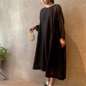 suzuki takayuki pullover dress(スズキタカユキ プルオーバードレス)Black