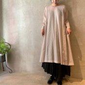 suzuki takayuki pullover dress(スズキタカユキ プルオーバードレス)Ice gray