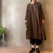suzuki takayuki pullover dress(スズキタカユキ プルオーバードレス)Dark brown