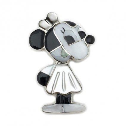 Paula Leekity Brooch Pendant top Minnie Mouse(ポーラ リーキティ ブローチ・ペンダントトップ ミニーマウス)