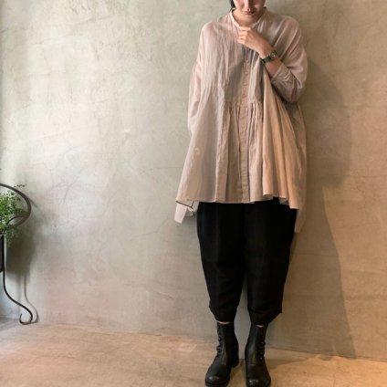suzuki takayuki broad blouse(スズキタカユキ ブロード ブラウス)Ice gray