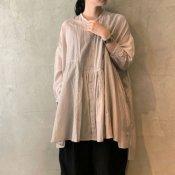 suzuki takayuki broad blouse (スズキタカユキ ブロード ブラウス)Ice gray