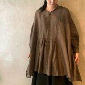 suzuki takayuki broad blouse (スズキタカユキ ブロード ブラウス)Dark brown