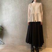 suzuki takayuki long skirt  (スズキタカユキ ロングスカート) Black