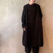 suzuki takayuki no-collar coat(スズキタカユキ ノーカラーコート)Black