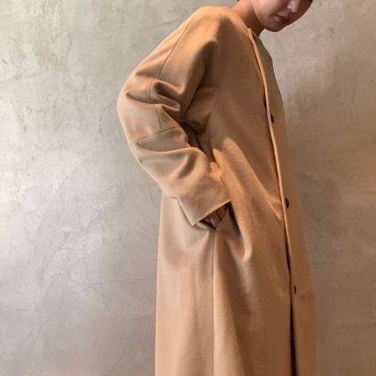 suzuki takayuki no-collar coat(スズキタカユキ ノーカラーコート)Nude