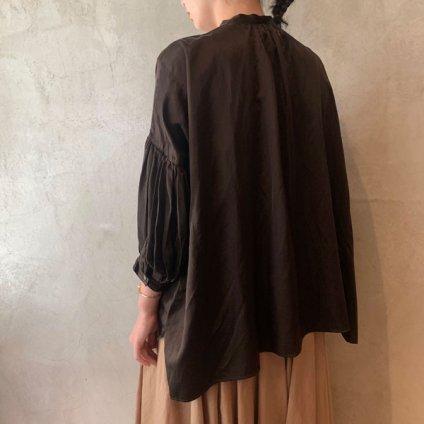 suzuki takayuki puff-sleeve blouse(スズキタカユキ パフスリーブ ブラウス)Dark brown