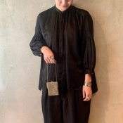 suzuki takayuki puff-sleeve blouse (スズキタカユキ パフスリーブ ブラウス)Black
