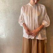 suzuki takayuki puff-sleeve blouse (スズキタカユキ パフスリーブ ブラウス)Nude