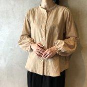 ikkuna/suzuki takayuki gathered-sleeve blouse (イクナ/スズキタカユキ ギャザードスリーブブラウス)Hazel