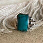 Vintage Navajo Split Shank Silver×Turquoise Ring (ナバホ シルバー×ターコイズ リング)