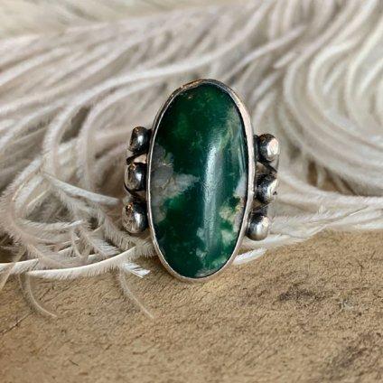 Green Turquoise Split Shank Silver Ring(グリーンターコイズ スプリットシャンク シルバーリング)