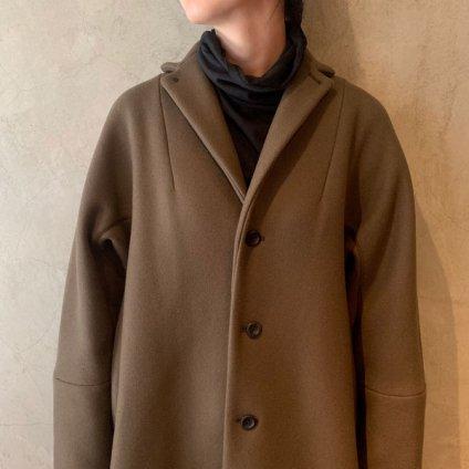 suzuki takayuki tailored-collar coat(スズキタカユキ テーラードカラーコート)Dark brown