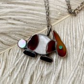 Vintage Zuni Inlay Rabbit Fob Necklace (ズニ族 インレイ ラビット フォブ ネックレス)