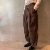suzuki takayuki easy pants(スズキタカユキ イージーパンツ)Dark brown/Unisex
