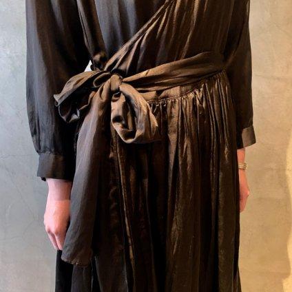 suzuki takayuki cache-coeur dress(スズキタカユキ カシュクールドレス)Dark brown