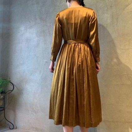 suzuki takayuki cache-coeur dress(スズキタカユキ カシュクールドレス)Light brown