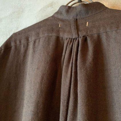 suzuki takayuki peasant dress (スズキタカユキ ペザントドレス)Dark brown