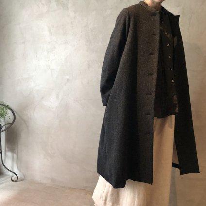 ikkuna/suzuki takayuki no-collar coat(イクナ/スズキタカユキ ノーカラーコート)Black