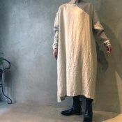 ikkuna/suzuki takayuki pullover dress (イクナ/スズキタカユキ プルオーバードレス)Nude