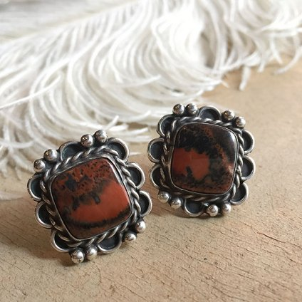 PetrifiedWood Silver Earrings(ペトリファイドウッド シルバーイヤリング)