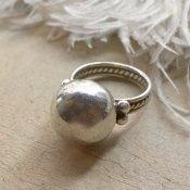 Vintage Mexican Silver Beads Face Split Shank Ring (メキシカン シルバー ビーズ フェイス スプリットシャンクリング)