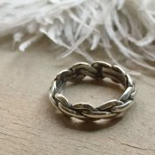 Braided Wire Triangle Shape Silver Ring(ブレイデッドワイヤー トライアングルシェイプ シルバーリング)