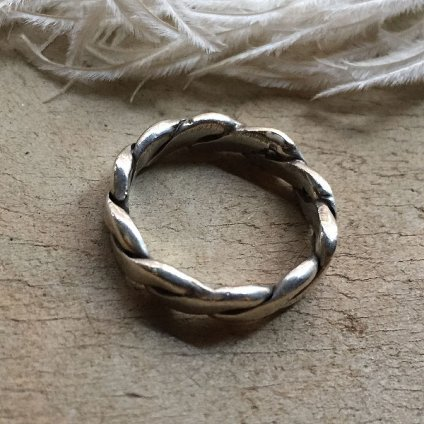 Flat Twisted Wire Silver Ring(フラットツイステッドワイヤー シルバーリング)