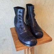 BEAUTIFUL SHOES Buttoned Sidegore Boots(ビューティフルシューズ ボタンドサイドゴアブーツ)Dark Navy