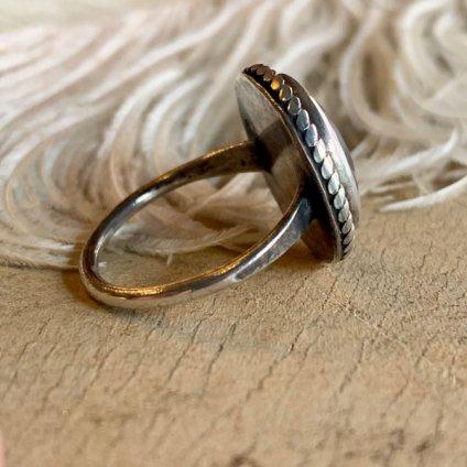 Navajo Round Wire×PetrifiedWood Shank Ring (ナバホ ラウンドワイヤー×ペトリファイドウッド シャンクリング)