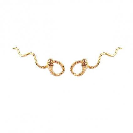 momocreatura Waving Snake Earrings Gold (モモクリアチュラ ヘビピアス ゴールド)