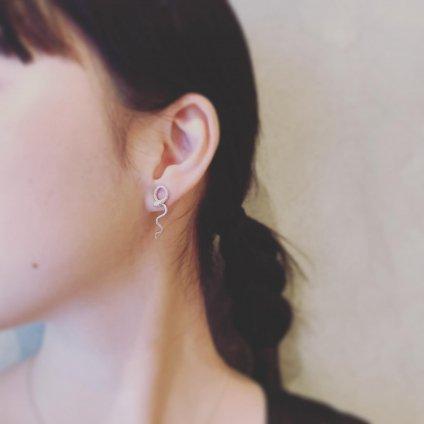 momocreatura Waving Snake Earrings Silver Single(モモクリアチュラ ヘビピアス シルバー 片耳用)