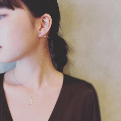 momocreatura Waving Snake Earrings Silver(モモクリアチュラ ヘビピアス シルバー)